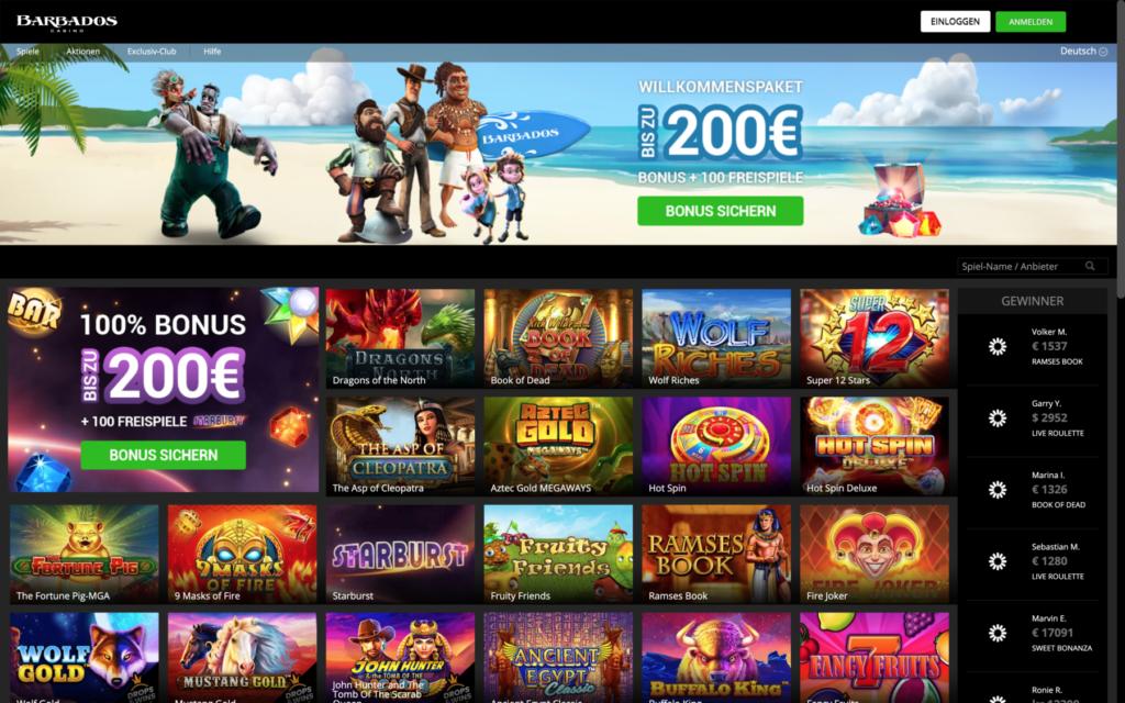 barbados casino website