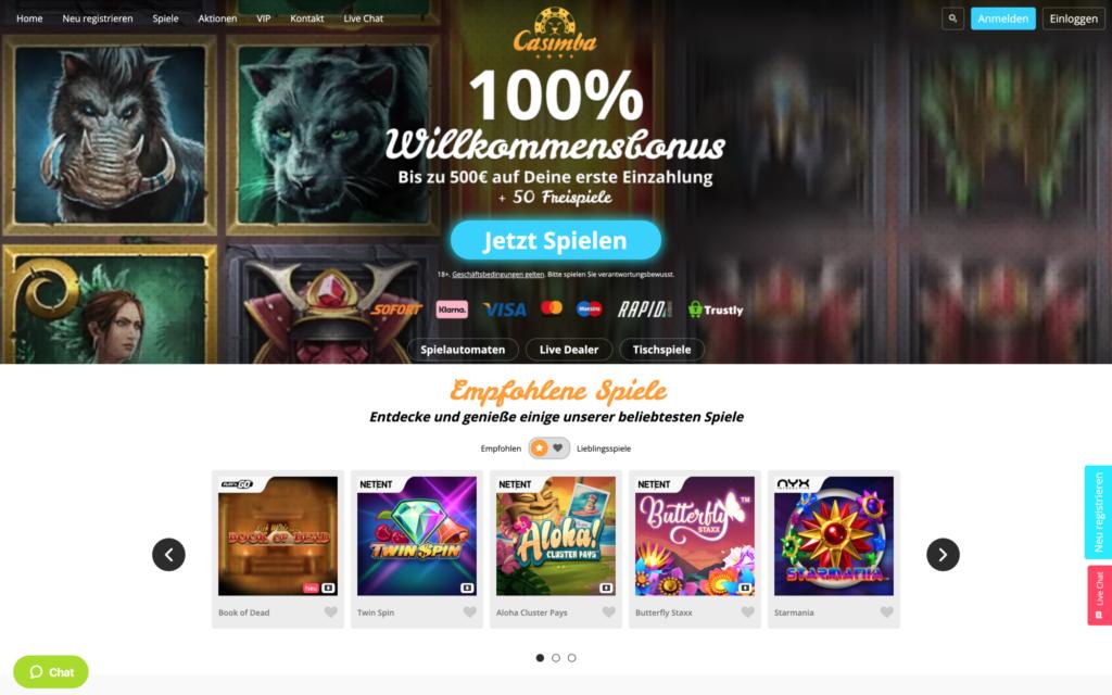 casimba casino website