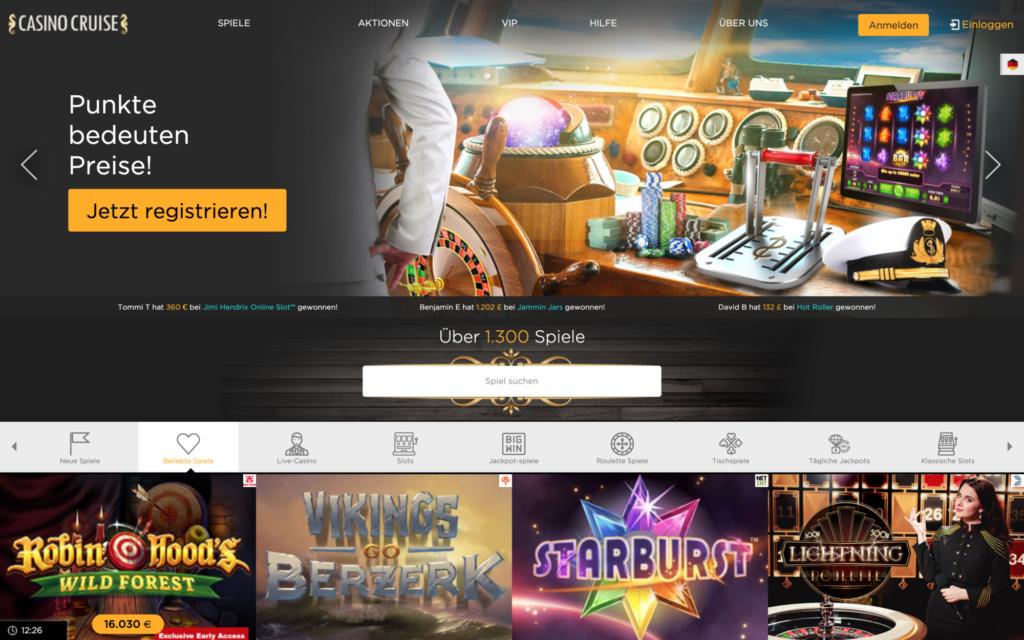 casino cruise website