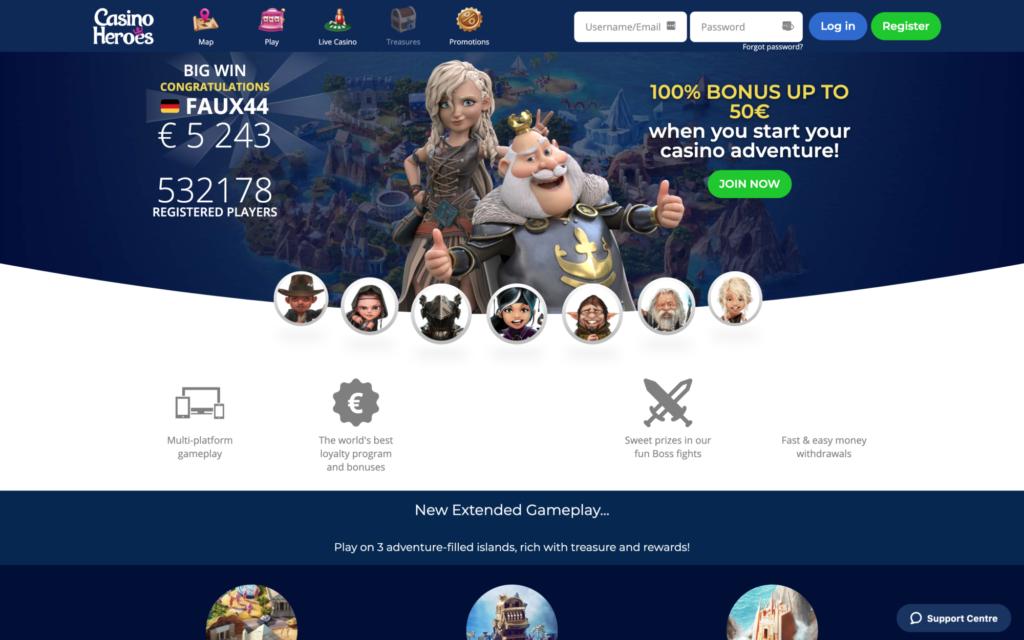 casino heroes website