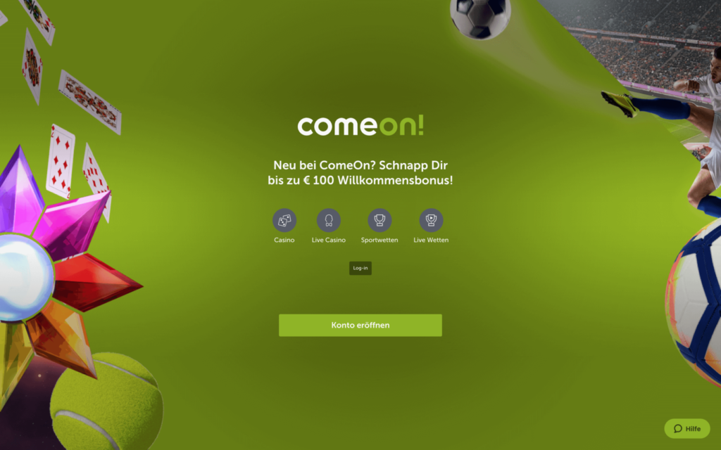 comeon casino website