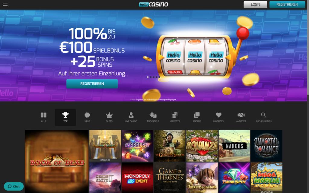 hello casino website