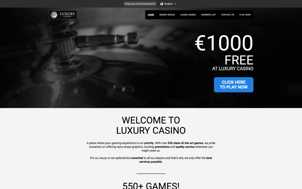 luxury casino website