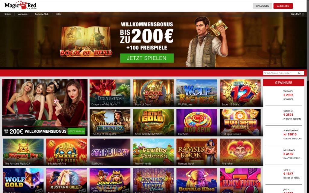 magic red casino website