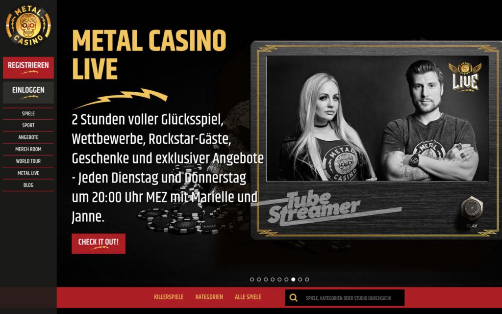 metal casino website