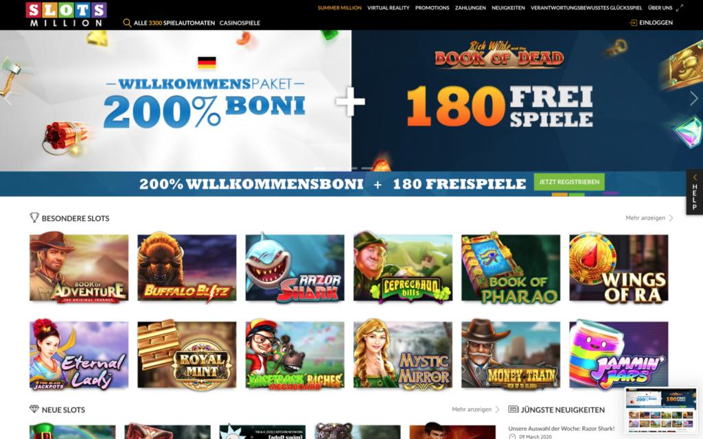 slotsmillion casino website