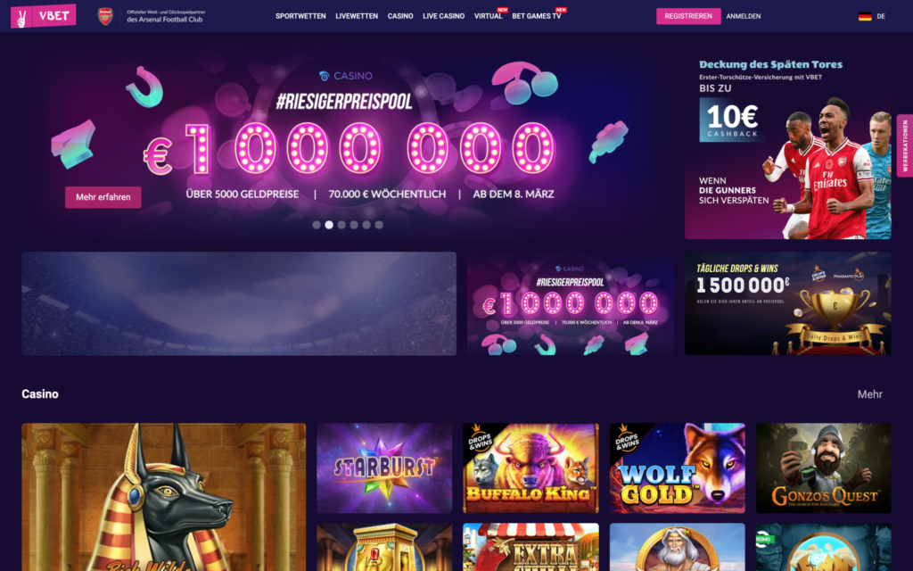 vbet casino website