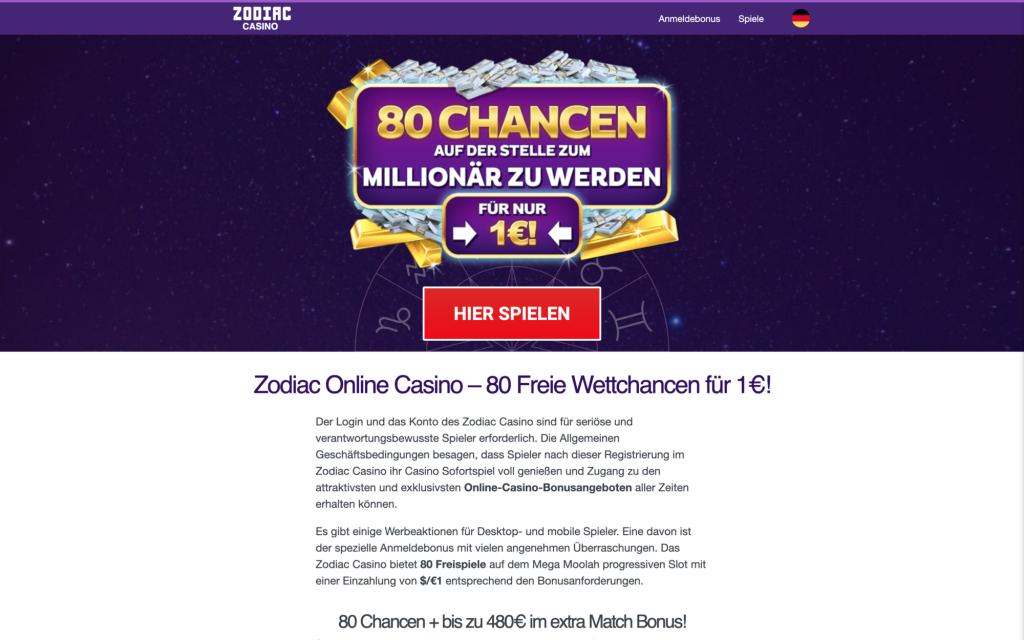 Erfahrung Zodiac Casino